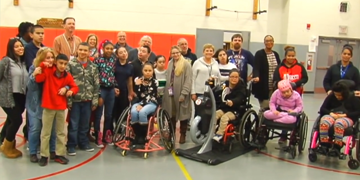 RHS Gets Equipment Donation for Special Education Students