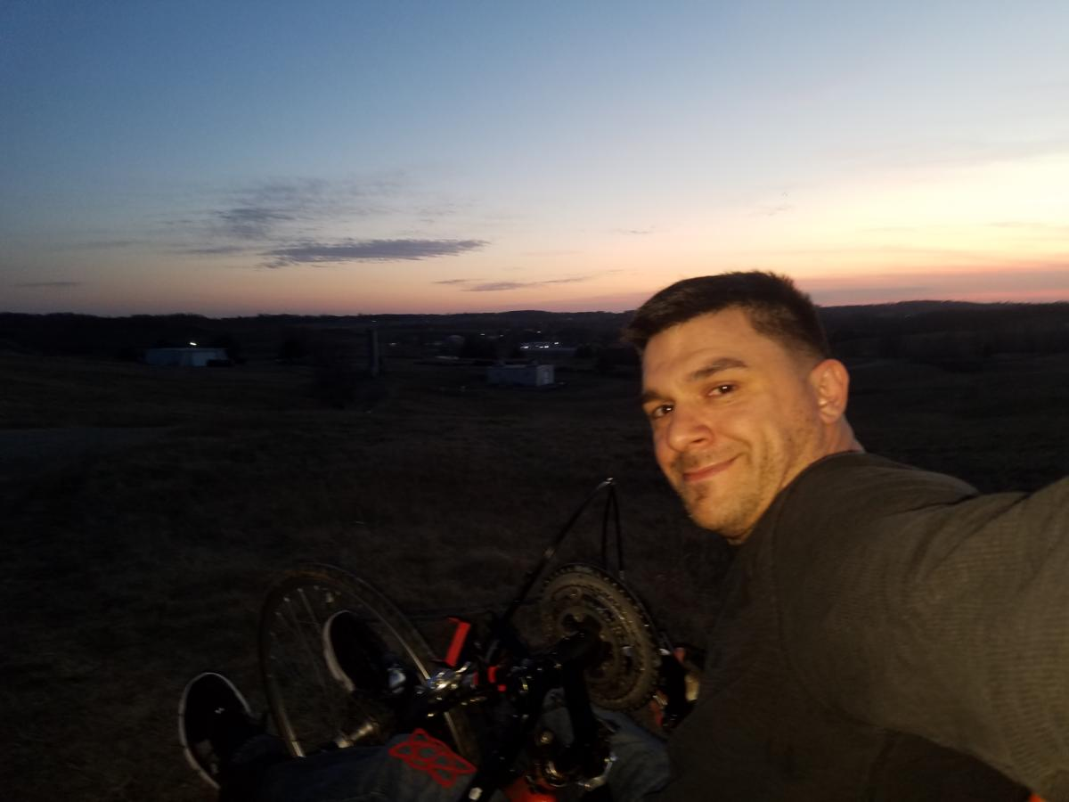 Jeremy Hollinger - Selfie during sunset ride